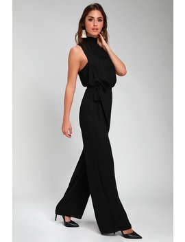 Strut Your Stuff Black Backless Jumpsuit by Lulus
