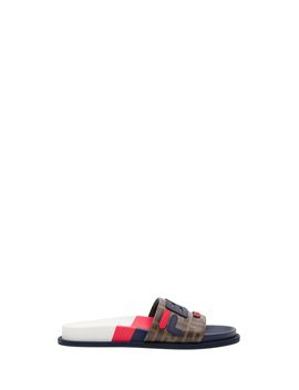 Fendi Multicolour Fabric Slides by Fendi