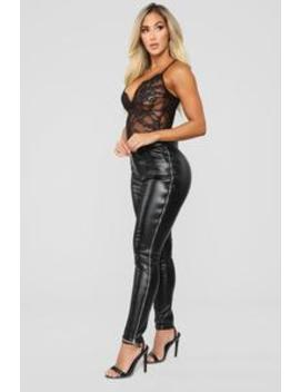 Just Zip It Pants   Black by Fashion Nova