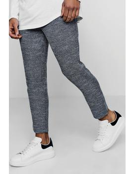 Smart Jogger Trouser In Herringbone by Boohoo