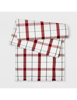 "72""X14"" Fresh Plaid Runner White/Red   Threshold™ by Threshold"