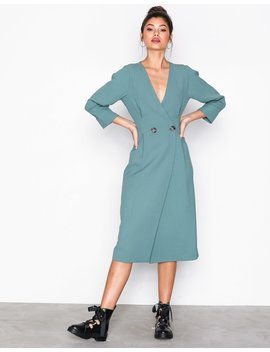 Extended Shoulder Midi Dress by Topshop