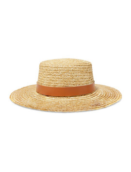 Spencer Leather Trimmed Straw Hat by Lack Of Color