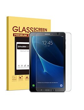 Sparin Galaxy Tab A 10.1 Screen Protector, Sm T580 Model, 0.3mm Tempered Glass, Bubble Free, Screen Protector For Samsung Galaxy Tab A 10.1, Clear by Sparin