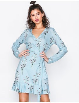 Jersey Frill Wrap Dress by Nly Trend