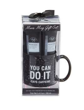 Men's Milagu Black Mug Gift Set by Tri Coastal Design