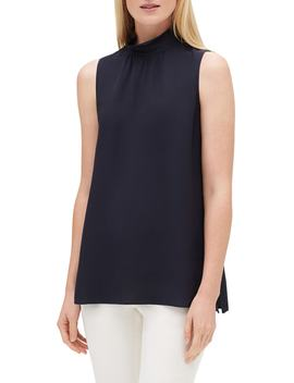 Didi Silk Ruffle Neck Blouse by Lafayette 148 New York