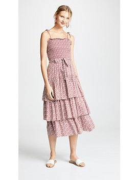 Wild Pansy Ruffle Tiered Dress by Tory Burch
