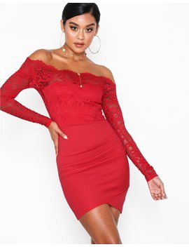 Off Shoulder Lace Dress by Nly One