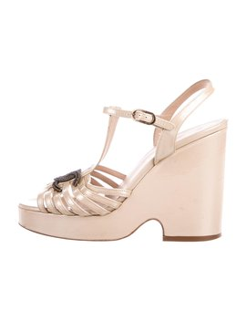 Platform Wedge Sandals by Chanel
