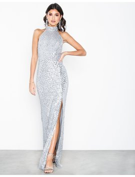 High Neck Sequin Gown by Nly Eve