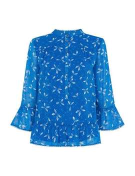 Polly Spot Dobby Blouse by Whistles