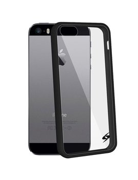 I Phone 5 5 S Se Shockproof Clear Case Black Trim Bumper Premium Hd Tempered Glass Combo by Fommy