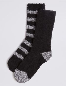 2 Pack Bed Socks by Marks & Spencer