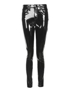 Black Vinyl Jamie Jeans by Topshop