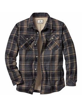 Legendary Whitetails Men's Deer Camp Fleece Lined Button Up Flannel Shirt Jacket by Legendary Whitetails