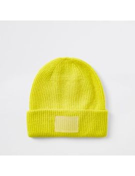 Bright Yellow Beanie Hat by River Island