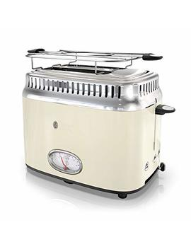 Russell Hobbs Tr9150 Crr Retro Style Toaster, 2 Slice, Cream by Russell Hobbs