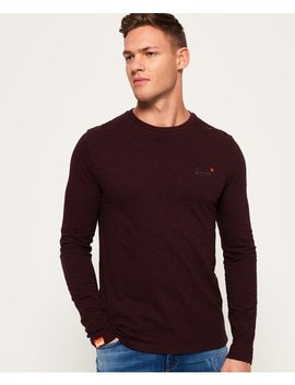 Orange Label Textured Long Sleeved T Shirt by Superdry