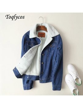 Autumn Winter New Style Brand With The Same Single Row Button Lamb Hair Denim Jacket  070 by Toqlycos