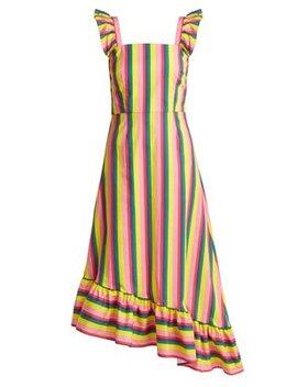 Valentina Asymmetric Cotton Poplin Dress by Staud