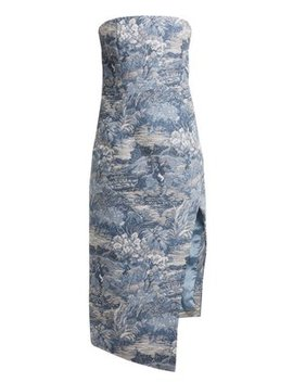 Tapestry Jacquard Bustier Dress by Off White