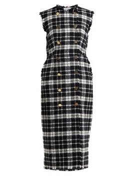 Double Breasted Tweed Dress by Thom Browne