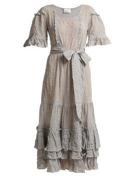January Striped Seersucker Dress by Lisa Marie Fernandez