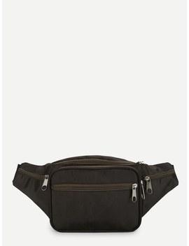 Zipper Detail Bum Bag by Shein