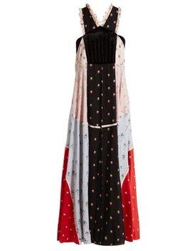 Floral Print Chiffon Dress by Valentino