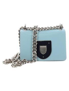 Diorama Club Small Light Blue Leather Cross Body Bag by Dior