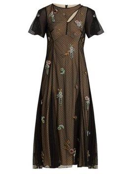 Kathryn Crystal Appliqué Tulle Dress by Erdem