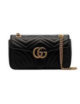 Black Marmont Quilted Leather Shoulder Bag by Gucci
