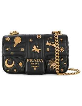 Diagramme Studded Shoulder Bag by Prada