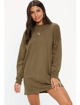 Khaki Basic Sweater Dress by Missguided