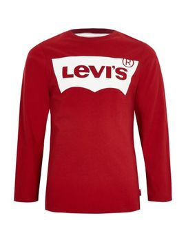 Boys Levi's Red Long Sleeve T Shirt by River Island