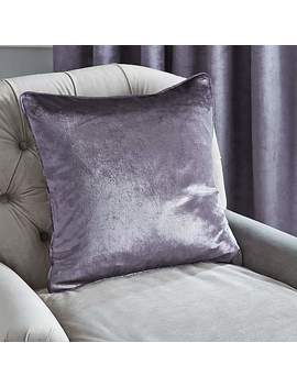 Monroe Crushed Velour Charcoal Cushion by Dunelm