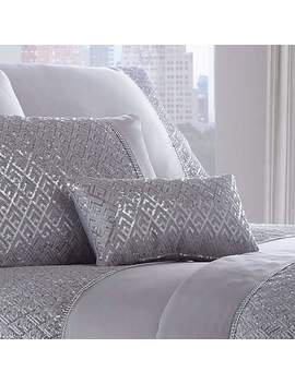 Shimmer Silver Petite Cushion by Dunelm
