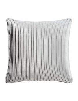 5 A Fifth Avenue Grey Velvet Pleat Cushion by Dunelm