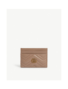 Logo Quilted Leather Card Holder by Gucci