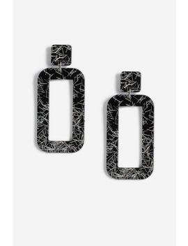 Resin Square Drop Earrings by Topshop