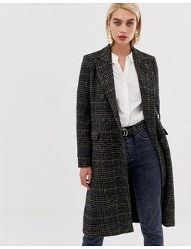 Vero Moda – Zweireihiger, Karierter Mantel by Asos