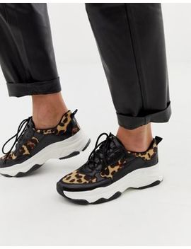 Public Desire Leopard Print Chunky Sneakers by Public Desire