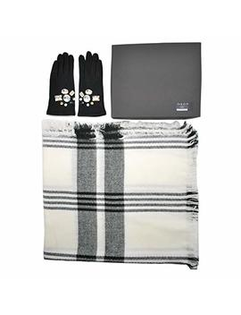 Women's Wool Gloves & Check Scarf Box Set #35 by Zen Elk