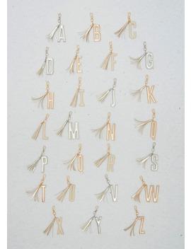 A Z Alphabet Tassel Keyring (10cm) by Matalan