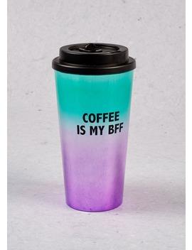 Ombre Coffee Slogan Travel Mug (18cm X 7cm) by Matalan