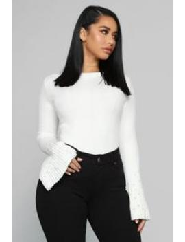Pearls On Pearls Sweater   Ivory by Fashion Nova