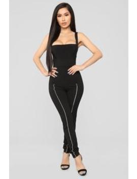 Off To Aspen Strap Pants   Black by Fashion Nova