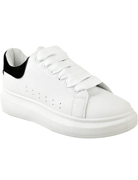 Womens Alex White Oversized Chunky Sneakers Rubber Sole Trainers New Shoes Size by Ebay Seller