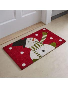 "Snowman Doormat 18""X30"" by Crate&Barrel"